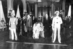 Capilla ardiente del exmandatario Rómulo Betancourt.En la gráfica se aprecian Carlos Andrés Pérez y Rafael Caldera