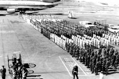 Recibimiento de los restos del expresidenteRaúl Leonien aeropuerto