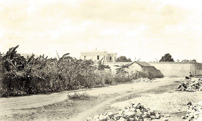 Quinta Mayda. Nótese que no existía el Parque Ayacucho