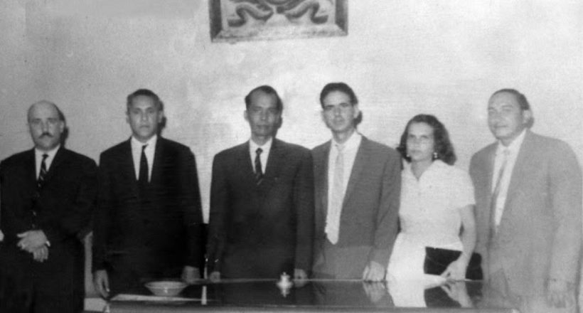 Julio Alvarez como presidente junto a los concejales cabudareños