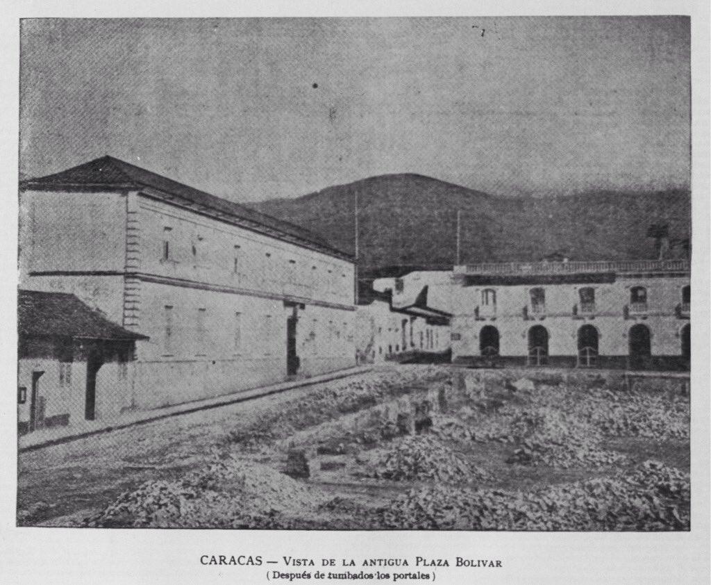 Esquina de la Principal hacia 1866. Caracas