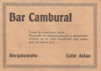 El Cambural, el antiguo bar de Barquisimeto