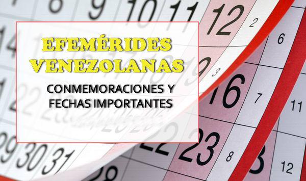 Efemérides de Venezuela