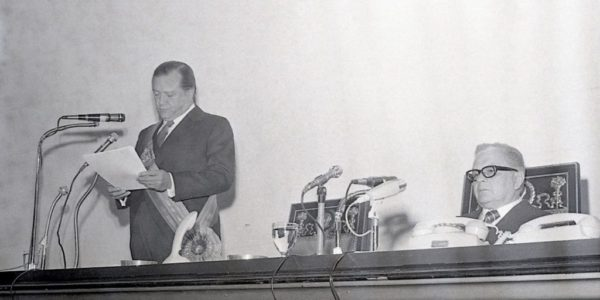 1974 Marzo 6 Último Mensaje al Congreso Rafael Caldera durante su discurso ante el Congreso al finalizar el periodo 1969-1974