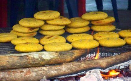 Arepas de maíz pelado