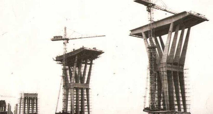 Construcción del puente sobre el Lago de Marcaibo Rafael Urdaneta