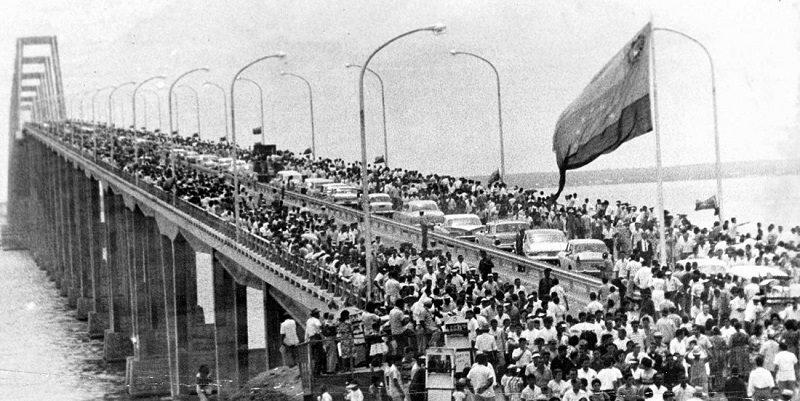 Puente sobre el lago de Maracaibo, obra de la democracia