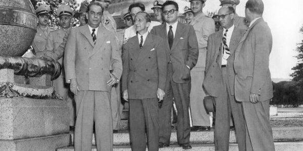 Gonzalo Barrios, Rómulo Gallegos, Andrés Eloy Blanco y Raúl Leoni. 1948