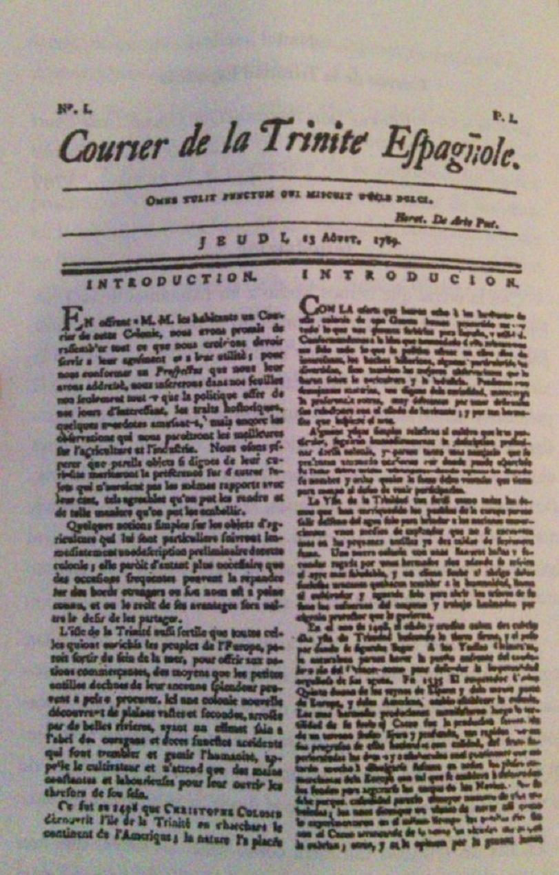 El Correo de la Trinidad Española fue el primer periódico venezolano