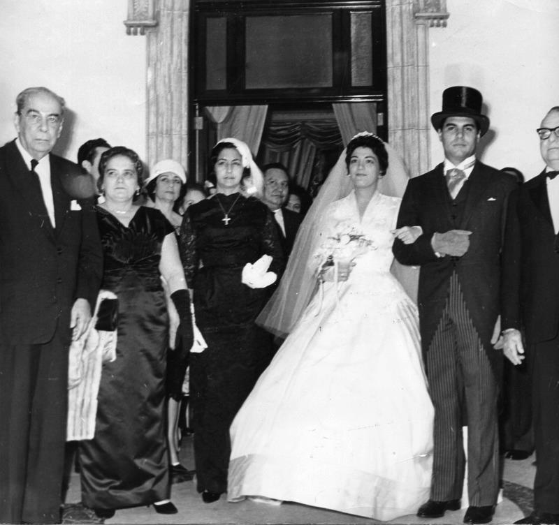 Alfredo Sadel se casó con Rosita Rodríguez en el Palacio de Miraflores