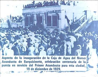Inauguración de la Caja de Agua de Barquisimeto