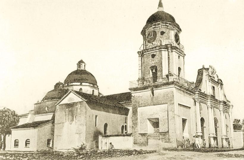 Esta imagen corresponde a la antigua Catedral y es una postal del año 1911