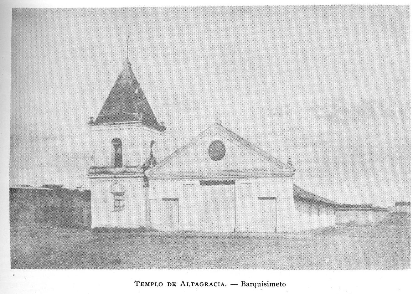 La iglesia de Altagracia en 1864