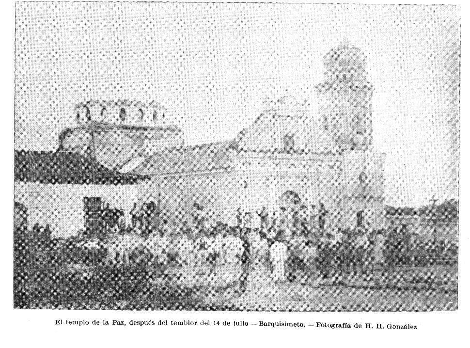 Templo de La Paz después del temblor de 1899