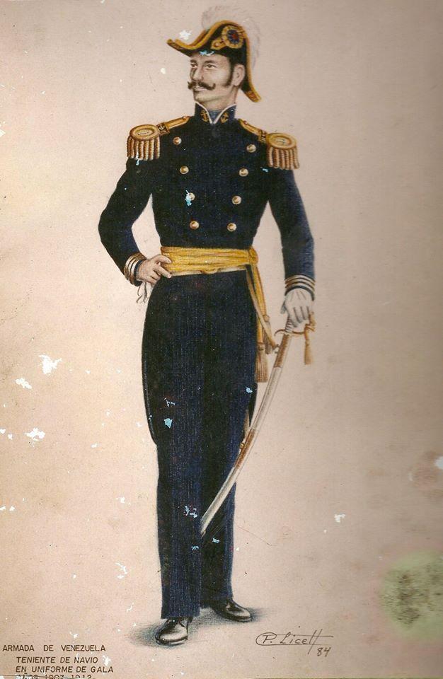Antiguos uniformes de la Armada de Venezuela
