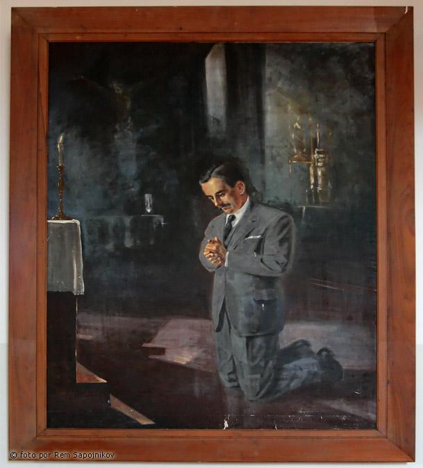 La pintura que anuncia al santo José Gregorio Hernández